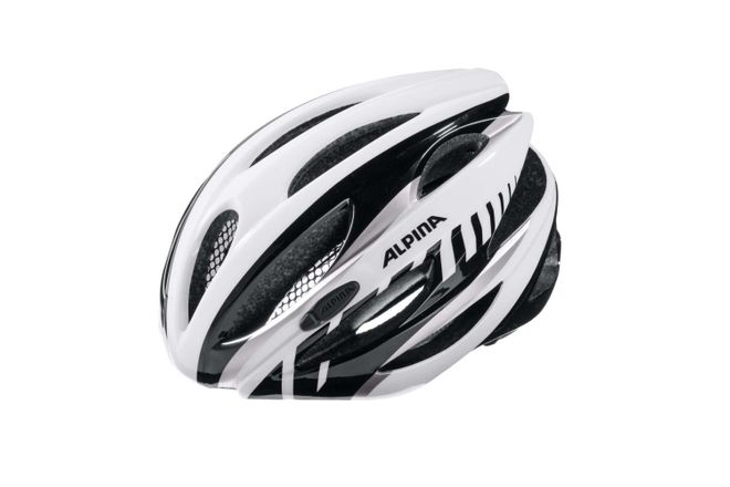 Alpina Cybric Fahrradhelm - white black