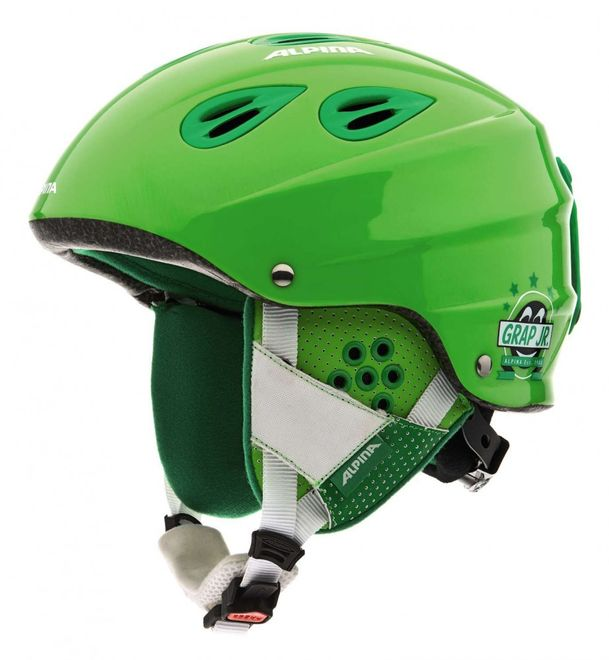 Alpina Grap Junior Jugend-Skihelm - green