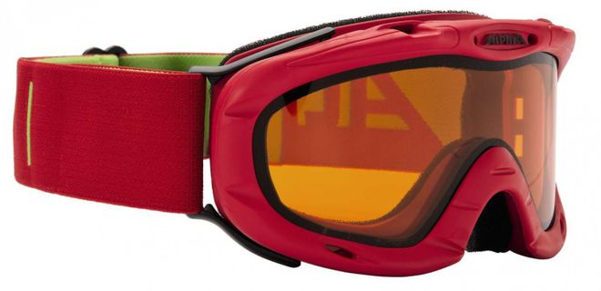 Alpina Ruby DLH Jugend-Skibrille - red