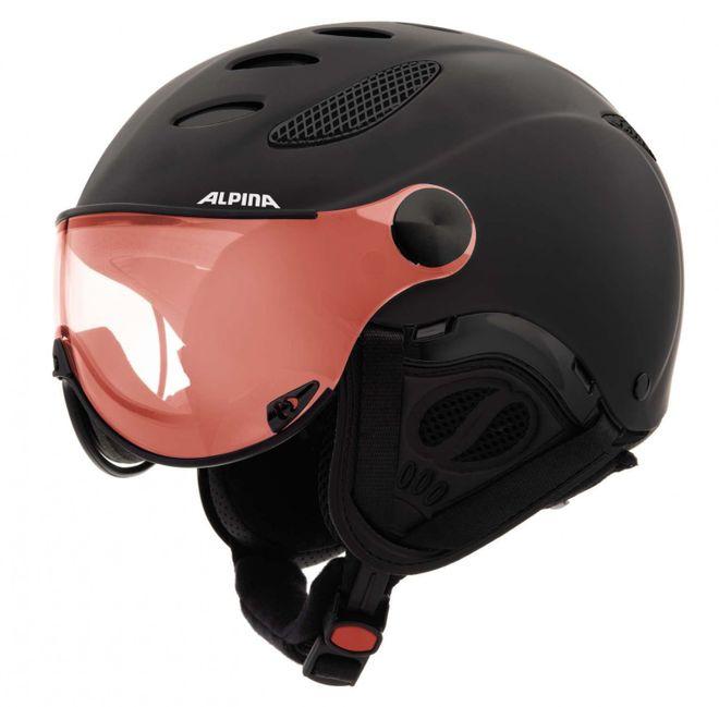 Alpina Jump JV Quattroflex Skihelm - black matt