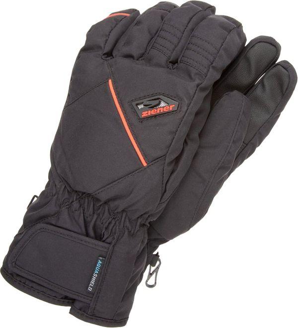 Ziener Gromus AS Ski Alpin Skihandschuhe - black poison orange
