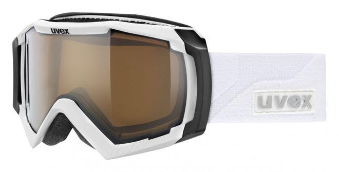Uvex Apache II variomatic polavision Skibrille - white mat