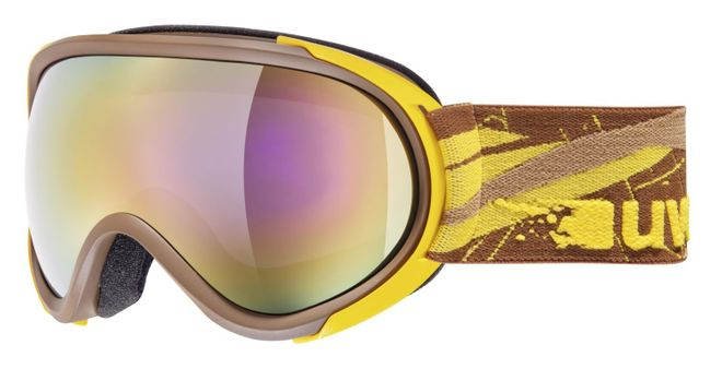 Uvex G.GL 7 Skibrille - brown yellow mat