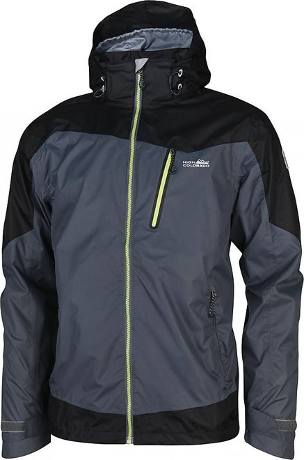 High Colorado Kansas Herren-Regenjacke - anthrazit schwarz