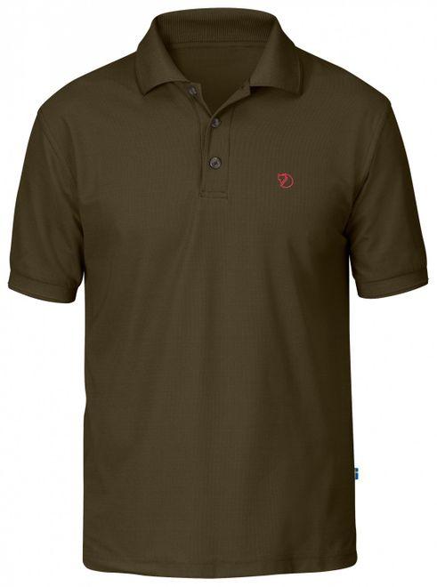 Fjällräven Crowley Pique Shirt Herren Kurzarm Polohemd - Dark Olive – Bild 1