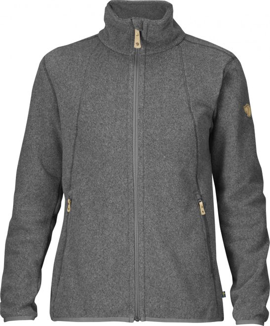 Fjällräven Stina Fleece Damen Trekking Jacke - Dark Grey – Bild 1