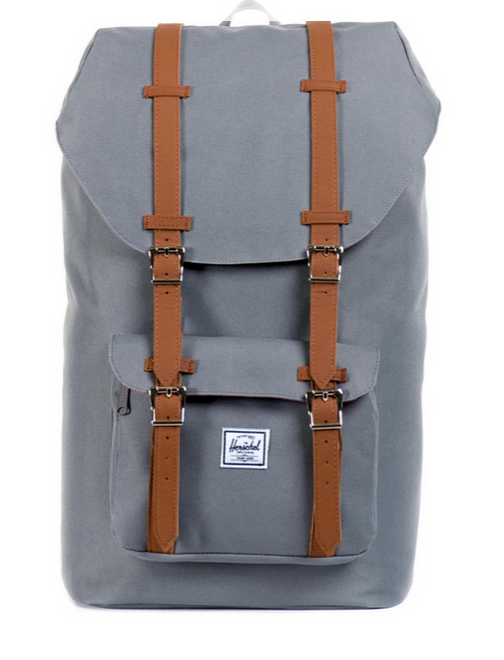 Herschel Little America Rucksack - grey tan synthetic leather