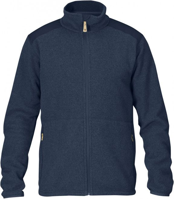 Fjällräven Sten Fleece Herren Outdoorjacke - Dark Navy – Bild 1