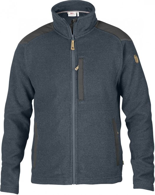 Fjällräven Buck Fleece Herren Strick-Fleecejacke - Graphite