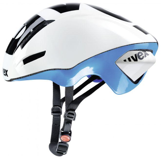 Uvex EDAero Rennradhelm - white blue