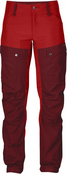 Fjällräven Keb Trousers Damen Regular Wanderhose  - Ox Red – Bild 1