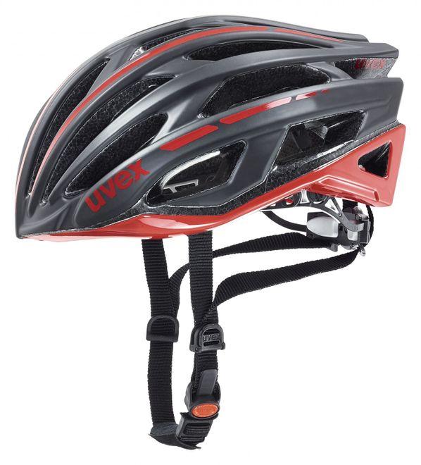 Uvex Race 5 Fahrradhelm - black mat red