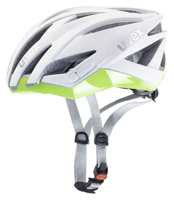 Uvex Ultrasonic Race Fahrradhelm - white mat green