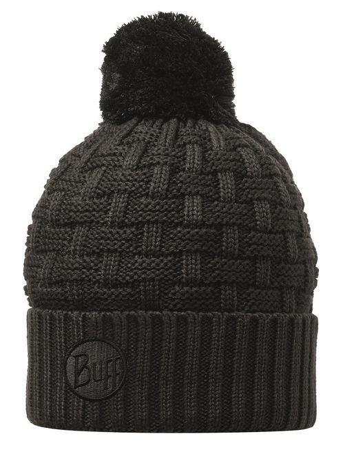 Buff Knitted & Polar Fleece Hat Airon - black