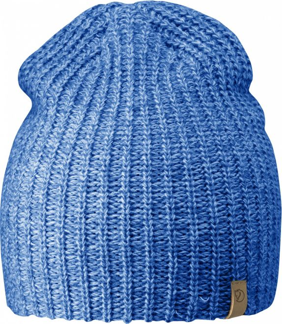 Fjällräven Övik Melange Beanie Strickmütze - UN Blue
