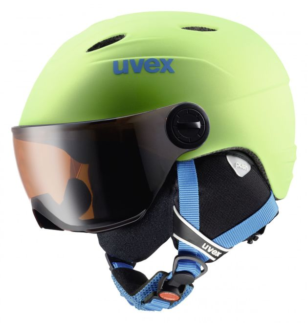 Uvex Junior Visor Pro Kinder-Skihelm - applegreen mat