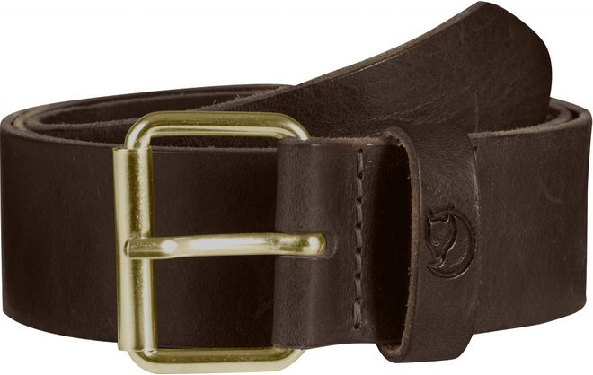 Fjällräven Sarek Belt 4 cm Gürtel Leder - Leather Brown
