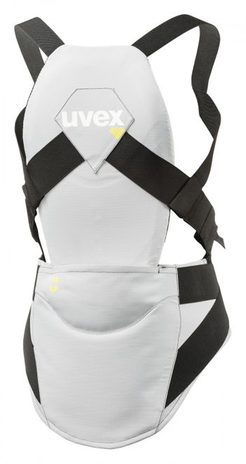 Uvex back pure w Ski-Protektor - light grey – Bild 1