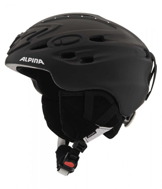 Alpina Scara Skihelm - black matt strass