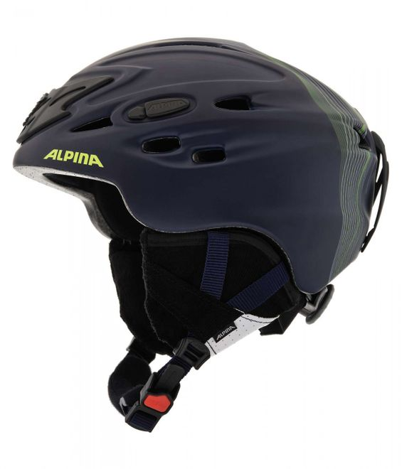Alpina Scara Skihelm - blue navy matt