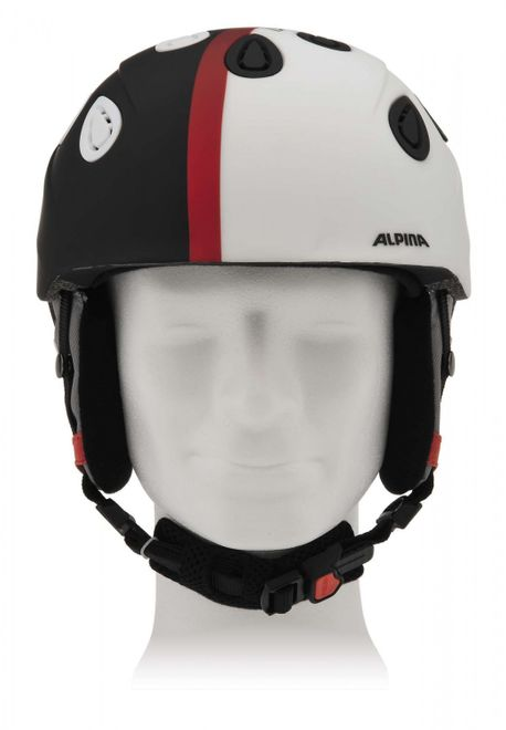 Alpina Grap 2.0 Skihelm - black white matt