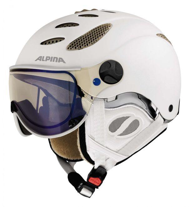 Alpina Jump JV Varioflex Skihelm - white prosecco matt