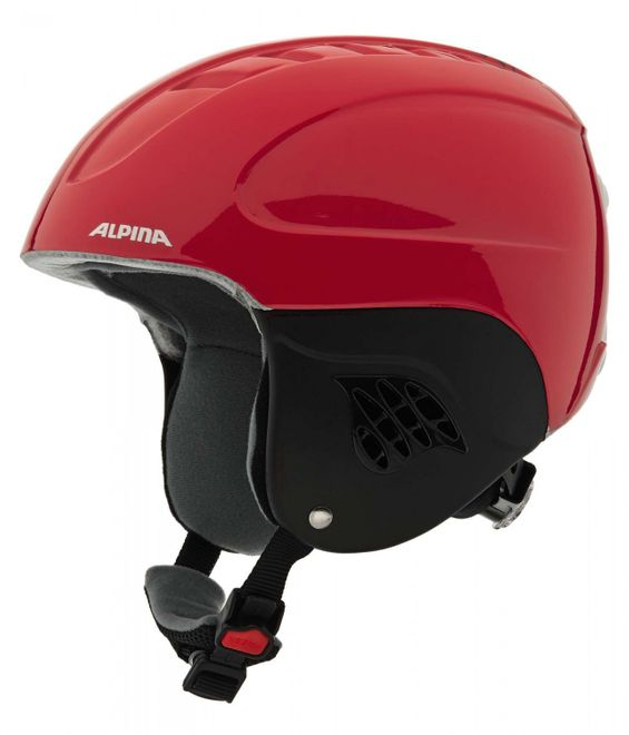 Alpina Carat Junior Skihelm - red blue asym – Bild 2