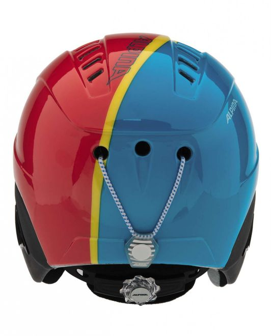 Alpina Carat Junior Skihelm - red blue asym – Bild 3
