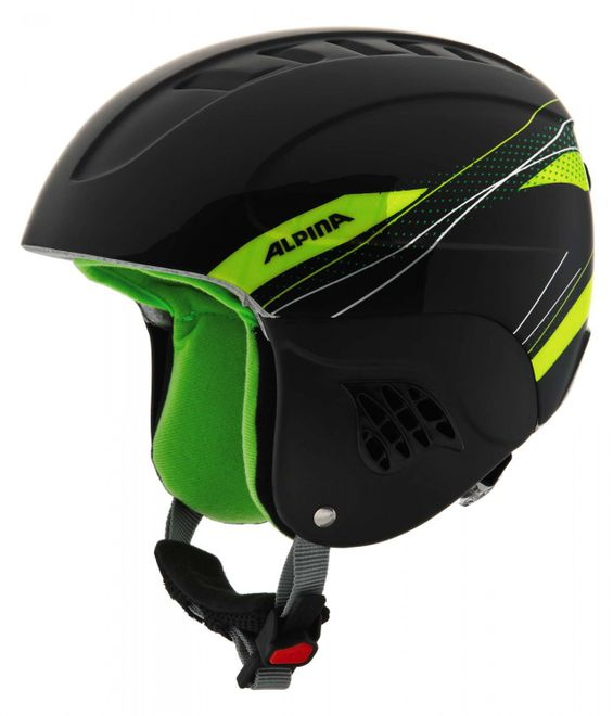 Alpina Carat Junior Skihelm - black green