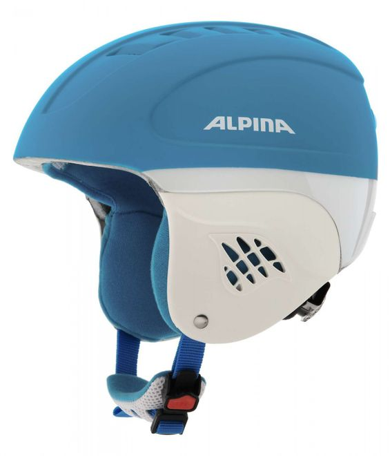 Alpina Carat LE Jugend-Skihelm - blue race matt