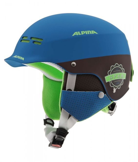 Alpina Spam Cap Junior Jugend-Skihelm - blue brown matt