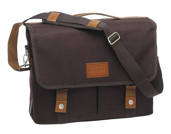 New Looxs Schultertasche Mondi Single Canvas - dunkelbraun