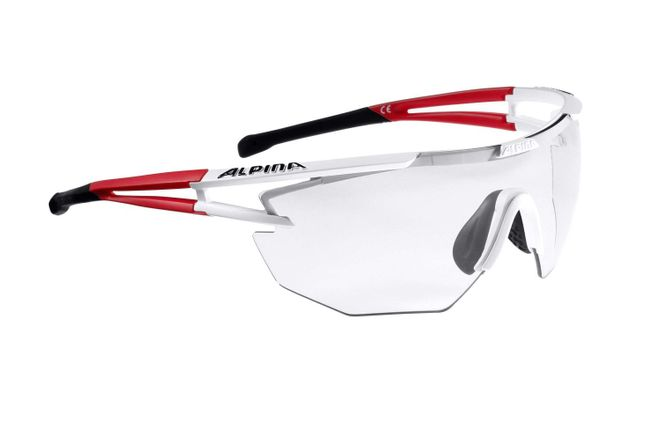 Alpina Eye-5 Shield VL+ Sportbrille - white matt red black
