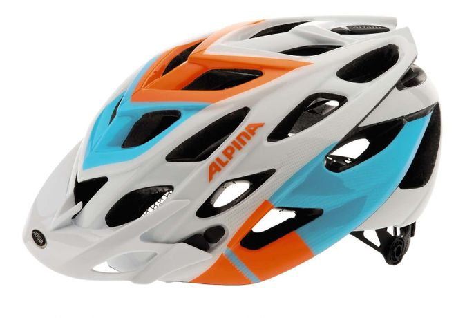 Alpina D-Alto Fahrradhelm - white orange blue