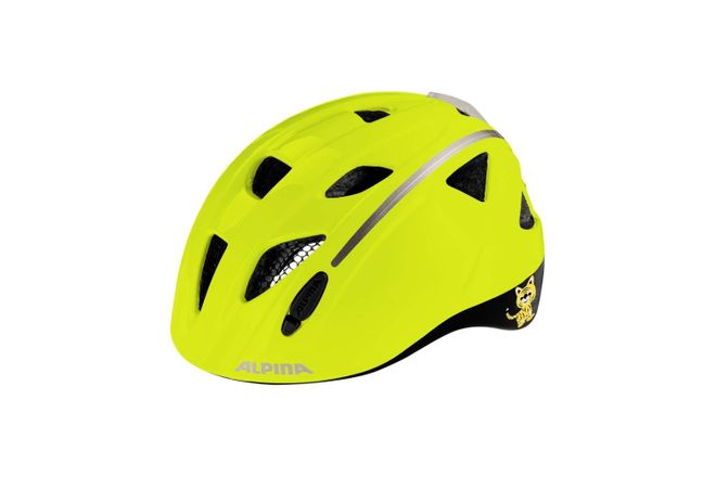 Alpina Ximo Flash Kinder Fahrradhelm - be visible reflective