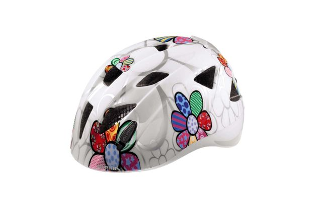 Alpina Ximo Flash Kinder Fahrradhelm - white flower