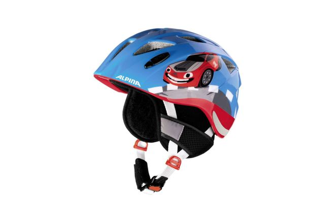 Alpina Ximo Flash Winter Kinder Fahrradhelm - red car
