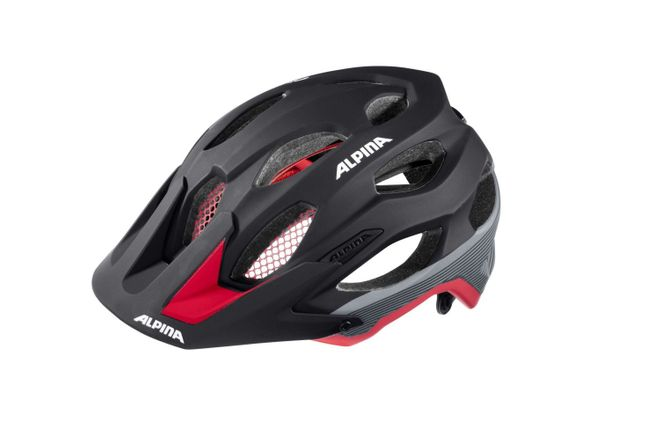 Alpina Carapax Fahrradhelm - black red darksilver