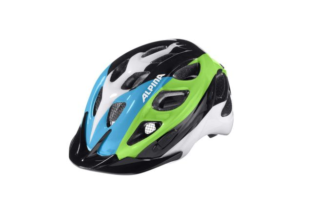 Alpina Rocky Kinder Fahrradhelm - black blue green