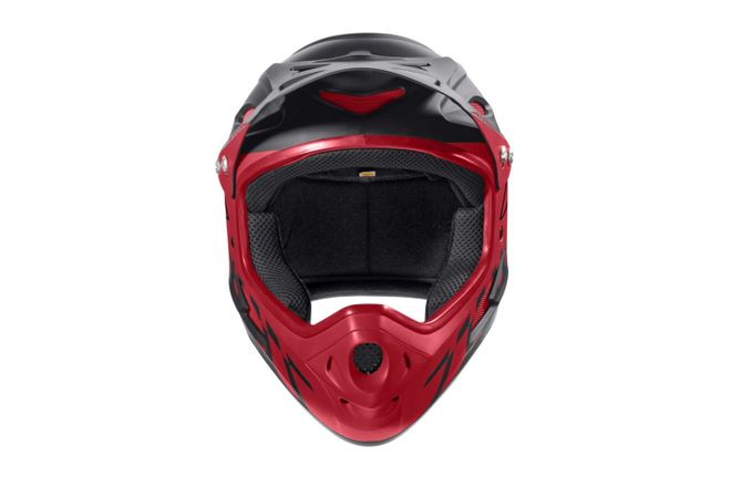 Alpina Fullface Downhill Helm - black red – Bild 3