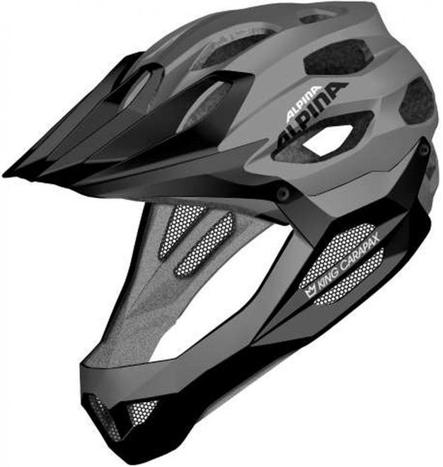 Alpina King Carapax Endurohelm - black