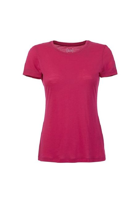 Super Natural Base Tee 140 Damen Merino Funktionsshirt - Bright Rose