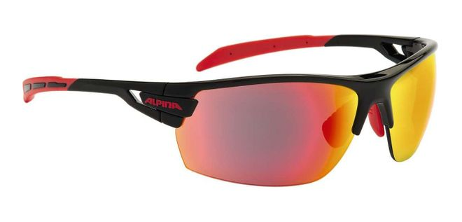 Alpina Tri-Scray Sportbrille - black red