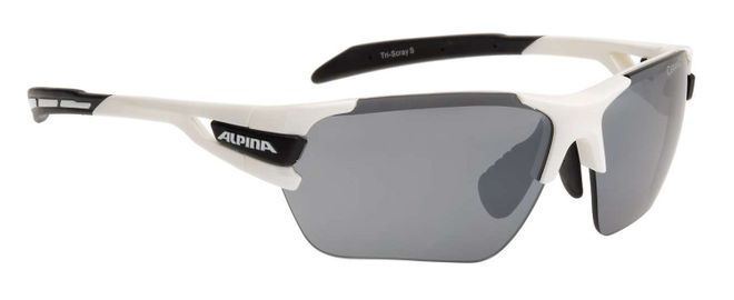 Alpina Tri-Scray S Sportbrille - white black
