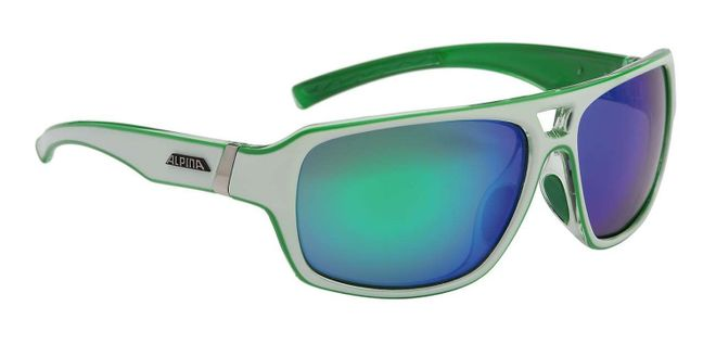 Alpina Yuko Sonnenbrille - white green transparent