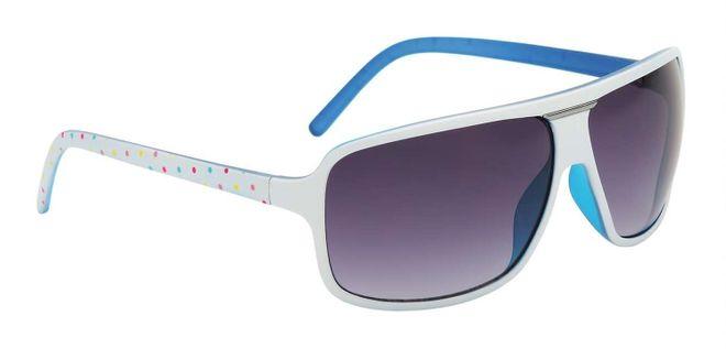 Alpina Manja Sonnenbrille - white dots blue