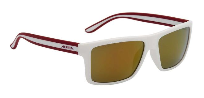 Alpina Lenyo Sonnenbrille - white matt red