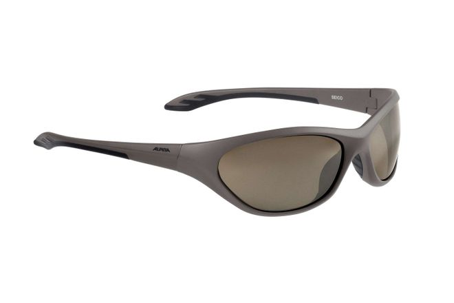 Alpina Seico Junior Sportbrille - brown matt black