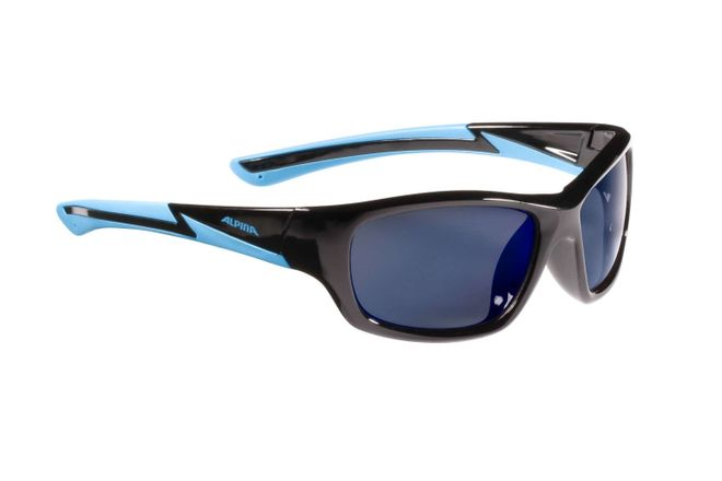 Alpina Flexxy Youth Junior Sportbrille - black cyan