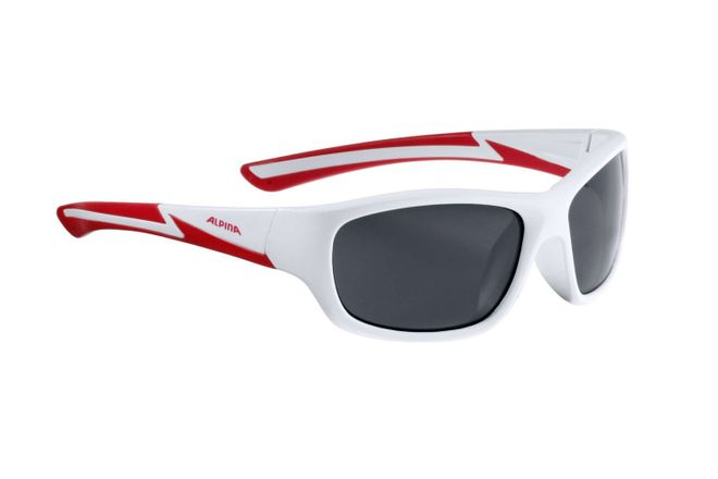 Alpina Flexxy Youth Junior Sportbrille - white matt red